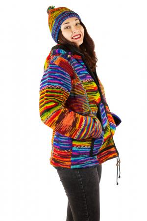 Jacheta de lana - Color Bits1