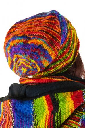 Caciula lunga din lana - Rasta Rainbow1