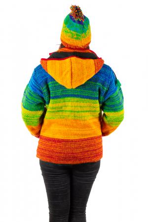 Jacheta din lana cu buzunare si captuseala polar- RAINBOW2