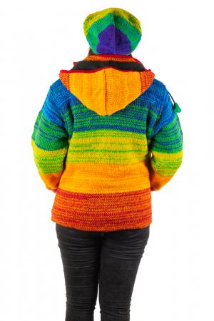 Jacheta din lana cu buzunare si captuseala polar- RAINBOW5