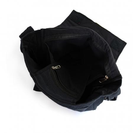 Geanta din canepa si bumbac model rasta pe negru2