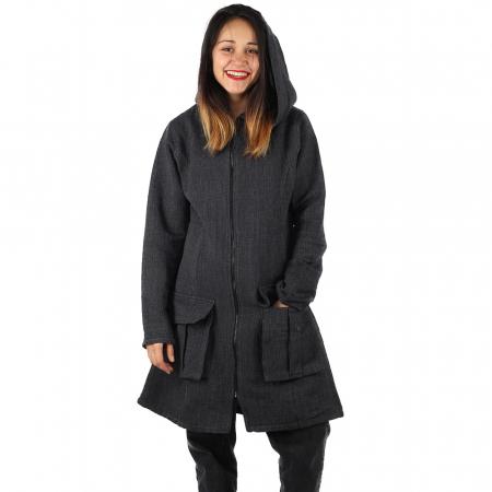 Jacheta din bumbac - GRI INCHIS1
