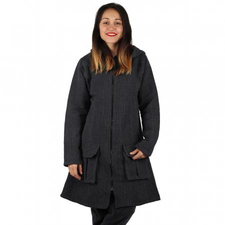 Jacheta din bumbac - GRI INCHIS2