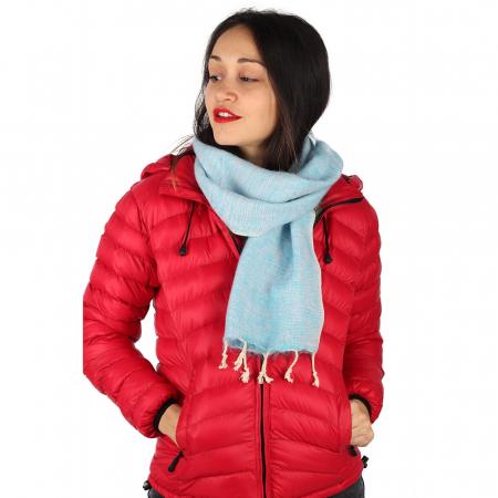 Fular calduros pentru iarna - Light Blue1