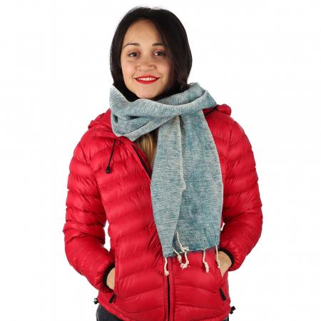 Fular calduros pentru iarna - White Blue1