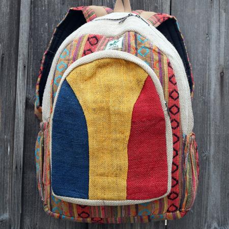 Rucsac etnic din canepa si bumbac - ROMANIA 30