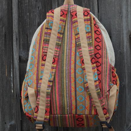 Rucsac etnic din canepa si bumbac - ROMANIA 32