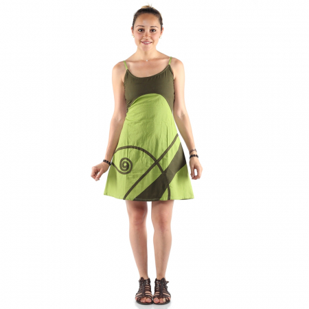 Rochie din bumbac - LIME [0]
