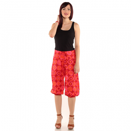 Pantaloni 3/4 psihedelic - ROSU0