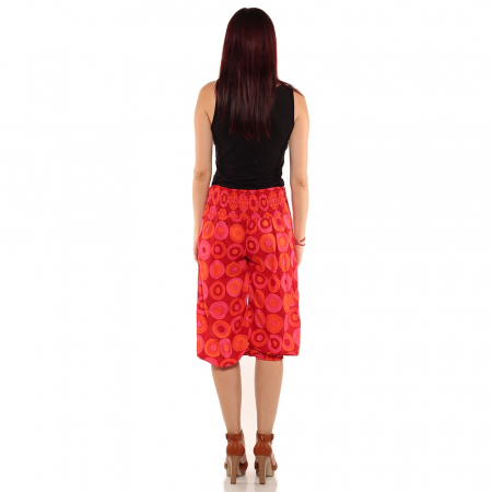Pantaloni 3/4 psihedelic - ROSU2