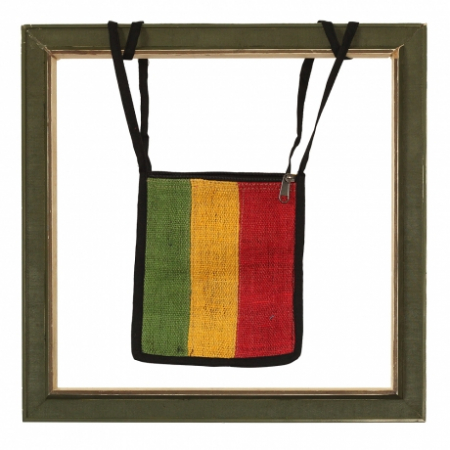 Rasta Passport bag, Red back0