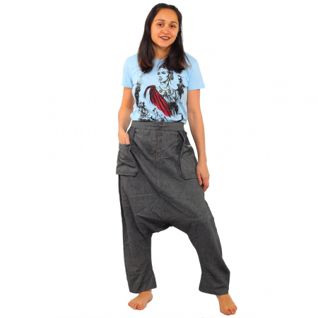 Pantaloni tip salvari - GREY0