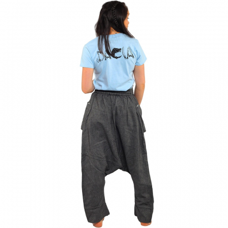 Pantaloni tip salvari - GREY1