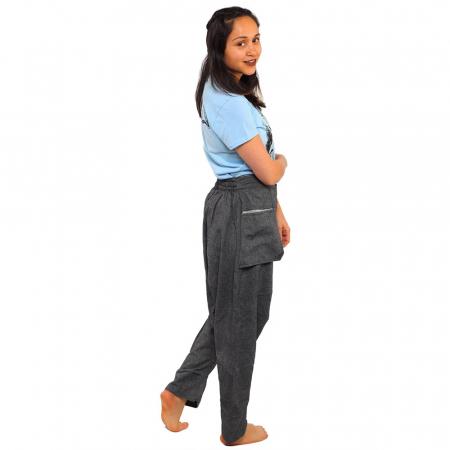 Pantaloni tip salvari - GREY2