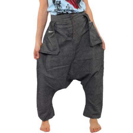 Pantaloni tip salvari - GREY3