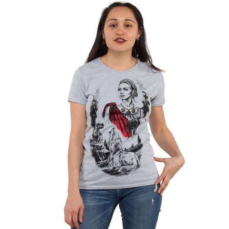 Tricou gri de dama - DACIA0
