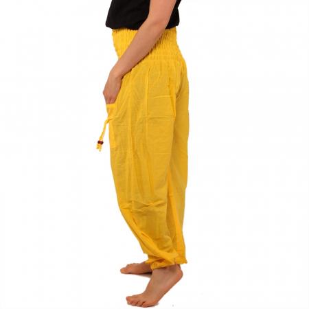 Pantaloni tip salvari - GALBEN1