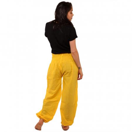 Pantaloni tip salvari - GALBEN2