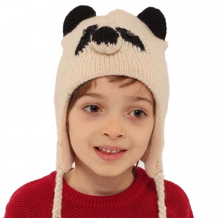 Căciula din lână copii - PANDA1