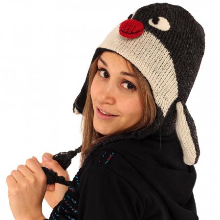 Căciula din lână copii - PINGUIN1