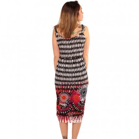 Rochie de vara multicolora boho2
