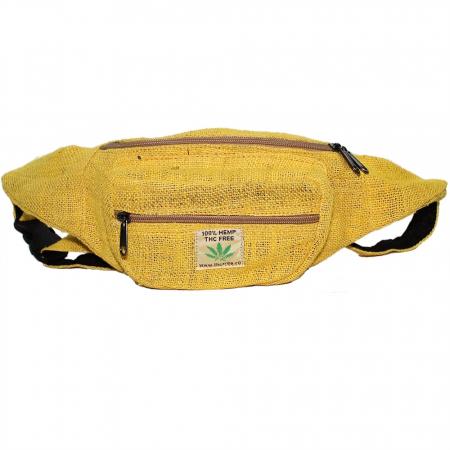 Borseta din canepa -Yellow1