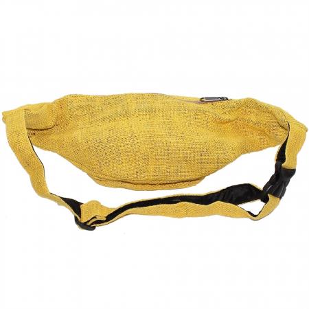 Borseta din canepa -Yellow2