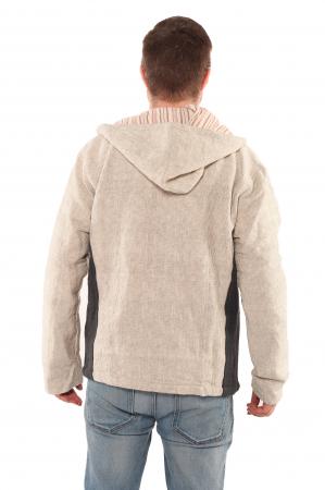 Jacheta barbateasca L - din bumbac - Gri cu negru2