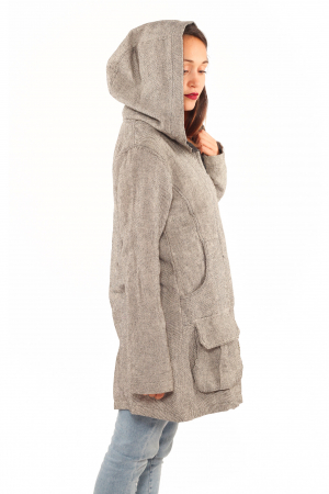 Jacheta femei din bumbac - Gri simpla1