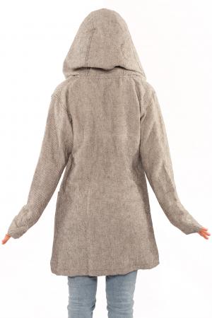 Jacheta femei din bumbac - Gri simpla3