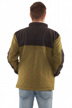 Jacheta barbateasca din bumbac, verde deschis - Geometric [2]