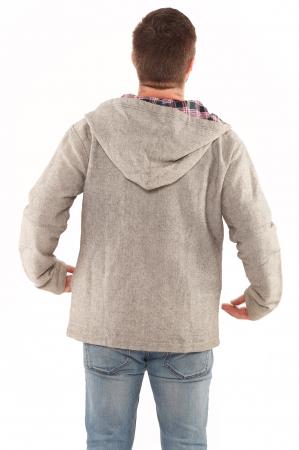 Jacheta barbateasca XL - din bumbac - Gri simpla2