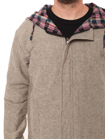 Jacheta barbateasca XL - din bumbac - Gri simpla3
