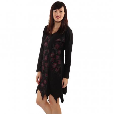 Rochie in colturi cu maneca lunga - BLACK2