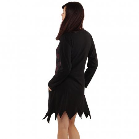 Rochie in colturi cu maneca lunga - BLACK3
