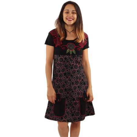 Rochie din bumbac - COLIER BRODAT [0]