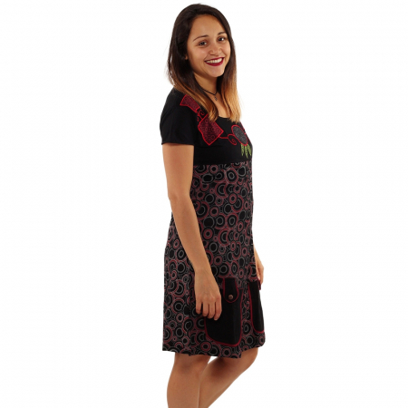 Rochie din bumbac - COLIER BRODAT [1]