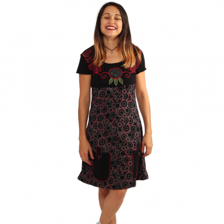 Rochie din bumbac - COLIER BRODAT [3]