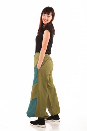 Pantalon salvar tip fusta - Verde2