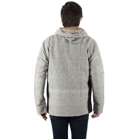 Jacheta barbateasca din bumbac - Gri Negru4