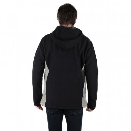 Jacheta barbateasca din bumbac - Negru Gri2