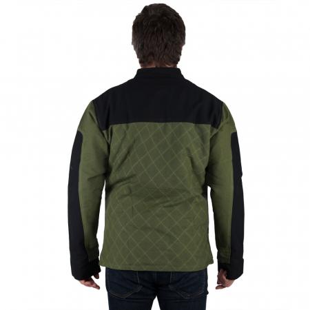 Jacheta barbateasca din bumbac, verde - Geometric3