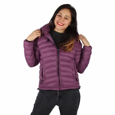 Jacheta XL cu puf – Violet0