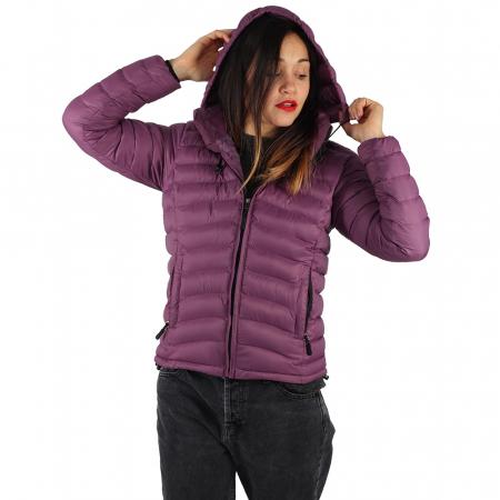 Jacheta XL cu puf – Violet1