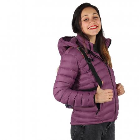 Jacheta XL cu puf – Violet3