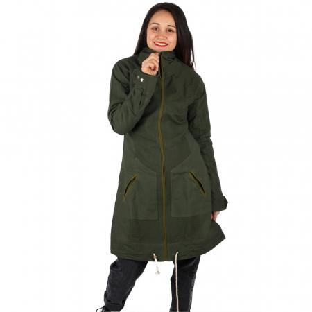 Jacheta din bumbac - VERDE1