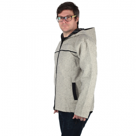 Jacheta barbateasca din bumbac - Gri1