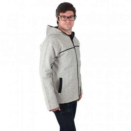 Jacheta barbateasca din bumbac - Gri2