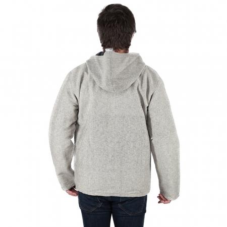 Jacheta barbateasca din bumbac - Gri3