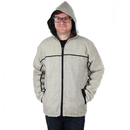 Jacheta barbateasca din bumbac - Gri4